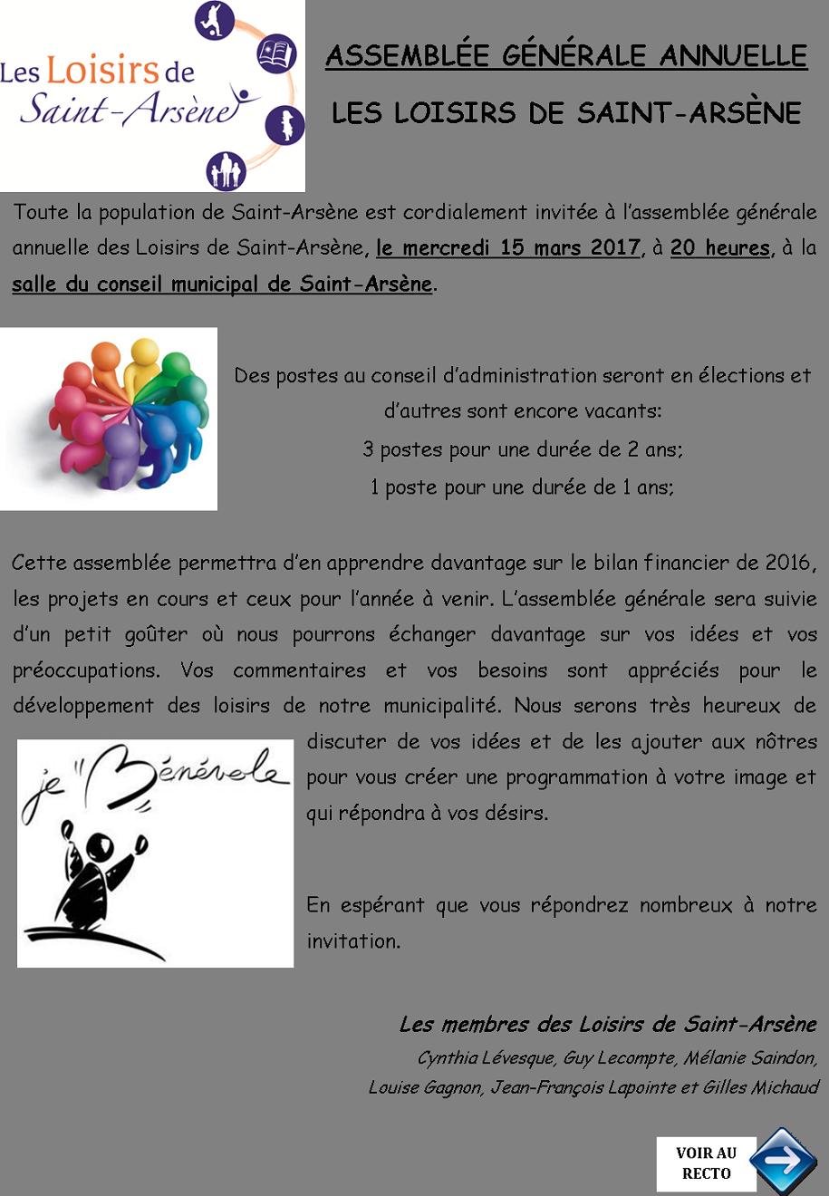 Convocation AGA comité des Loisirs (Auteur : Audrey Réhel, coordonnatrice loisirs/famille)