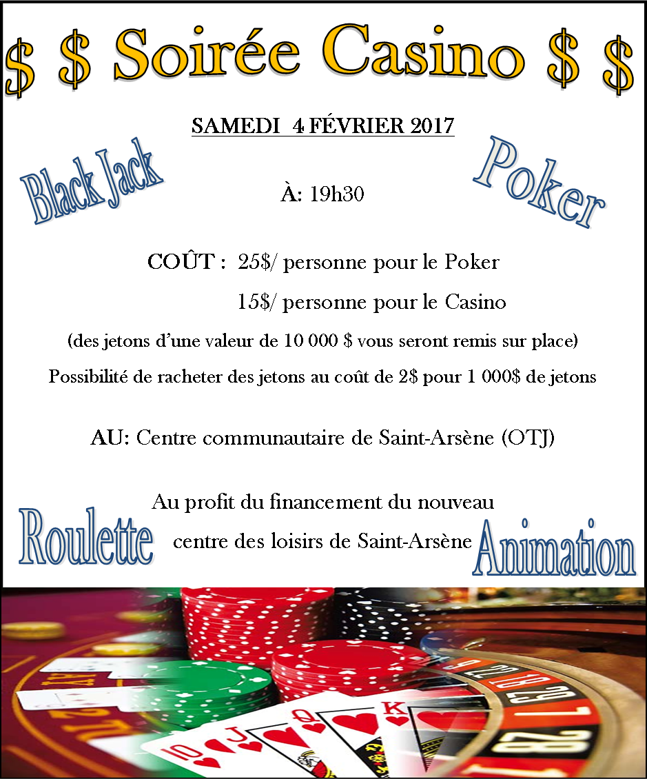 Flyer - Fête des Neiges soirée casino - recto (Auteur : Audrey Réhel, coordonnatrice loisirs/famille)
