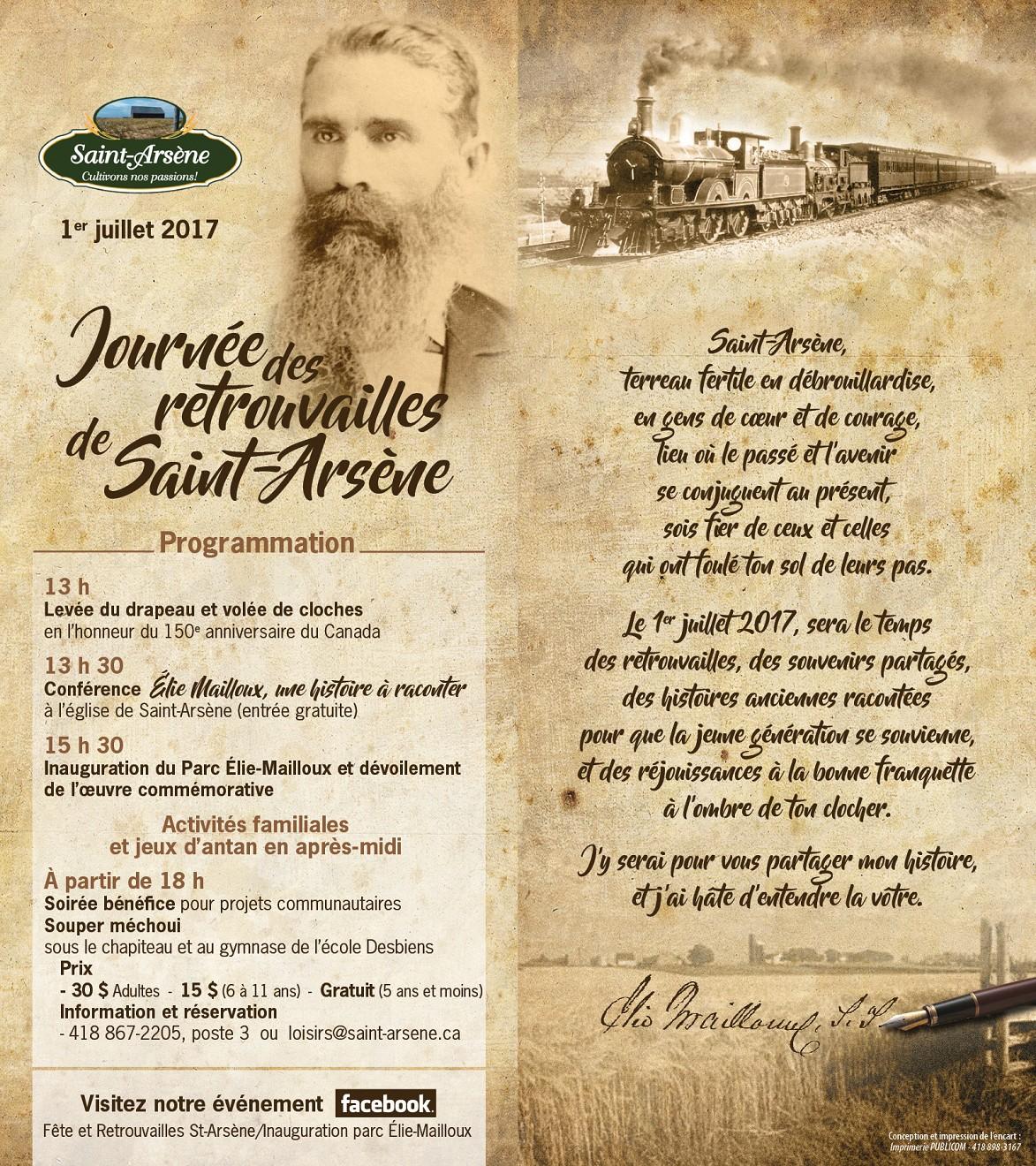 Journée des retrouvailles et inauguration du Parc Élie-Mailloux (Auteur : Joanie Cormier-Samson, Coordonnatrice loisirs)